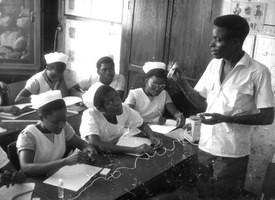L'enseignement dans une école d'infirmières