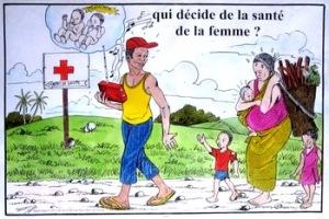 Image tirée d'une série en rapport avec la santé de la femme