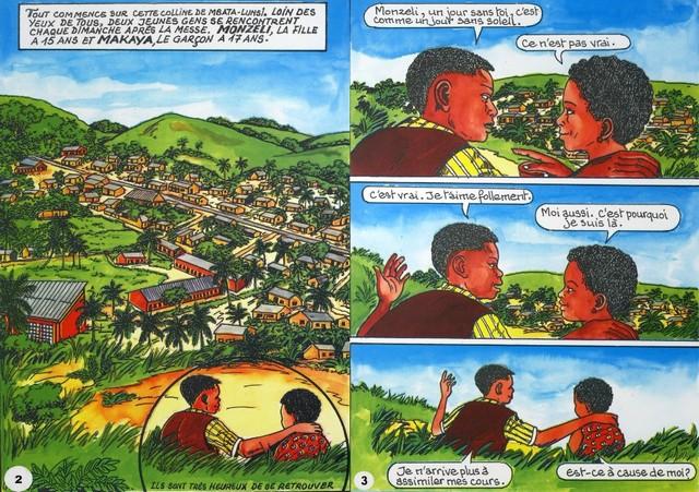 Pages de la bande dessinée « Monzeli »